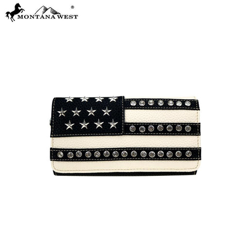 US20-W018 Montana West American Pride Collection Secretary Style Wallet