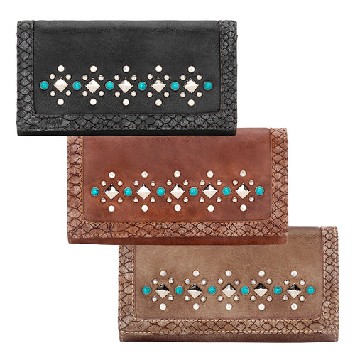 Bandana Guns And Roses Flap Wallet