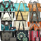 ABP-004W American Bling Pre-pack Phone Charging Handbag with Wallets (12 set Assorted Style)