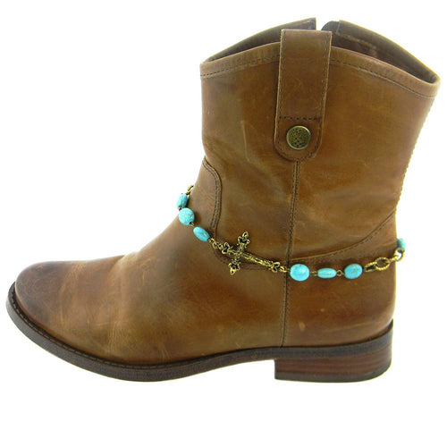 BOT150101-12GD  TQ Beads Chain Linked, Sideway Cross Boot Chain