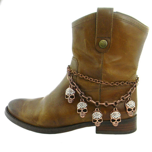 BOT151029-02COP 5 Skull Charm Boot Chain