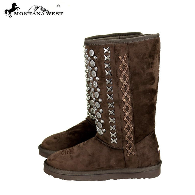 BST-030 Montana West Studs Collection Boots By Case