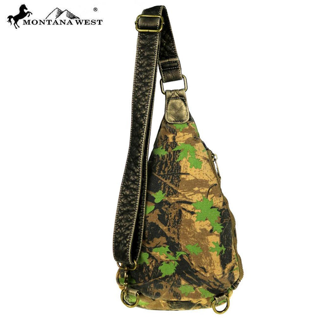 CSW01-7005 Montana West Camo Stone Washed Canvas Travel Bag Collection Crossbody Sling Bag