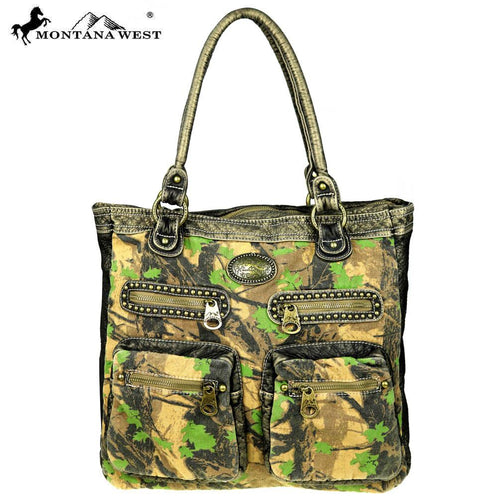 CSW01-7007 Montana West Camo Stone Washed Canvas Travel Bag Collection Tote
