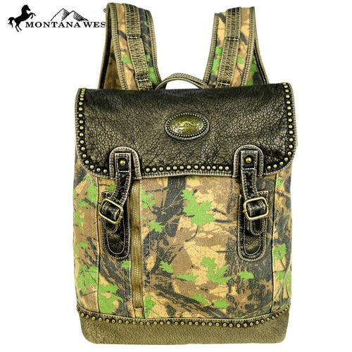 CSW01-7008 Montana West Camo Stone Washed Canvas Travel Bag Collection  Backpack