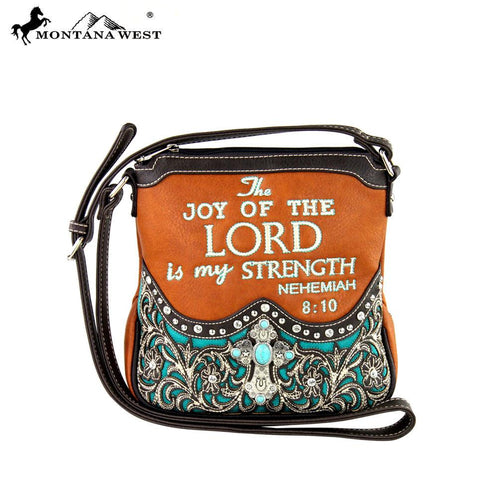 MW287-8295 Montana West Scripture Bible Verse Collection Messsenger Bag