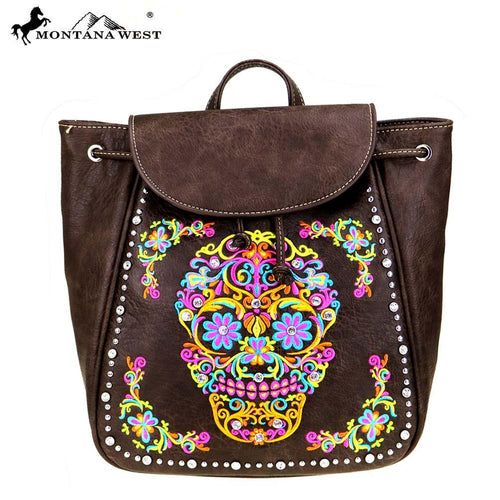 MW326-9110 Montana West Sugar Skull Collection Backpack