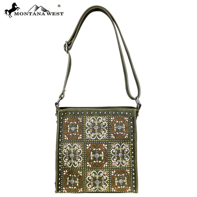 MW422-8391 Montana West Embroidered Collection Crossbody Bag