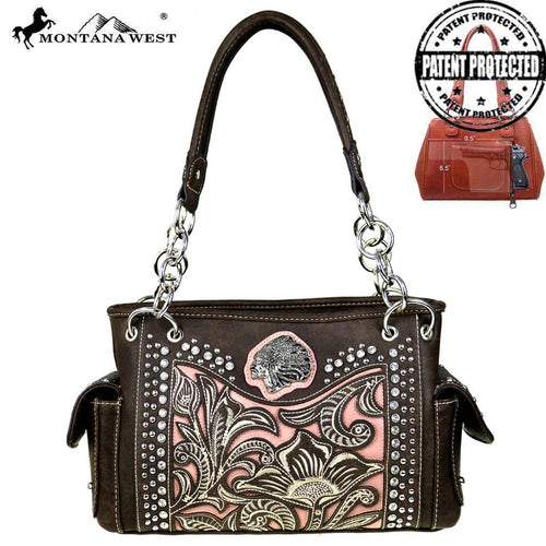 MW425G-8085  Montana West  Native American Collection Concealed Handgun Satchel