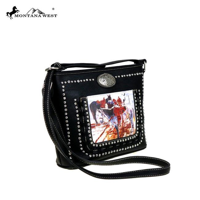 MW427-8287 Montana West Horse Art Crossbody - Janene Grende Collection