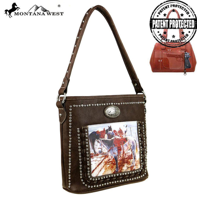 MW427G-121  Montana West Horse Art Concealed Handgun Tote - Janene Grende Collection
