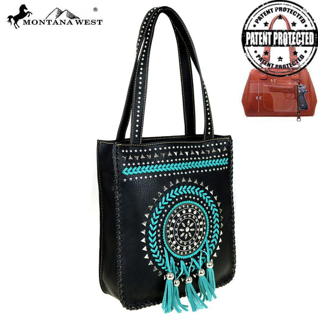 MW448G-8113  Montana West Tribal Collection Concealed Handgun Tote