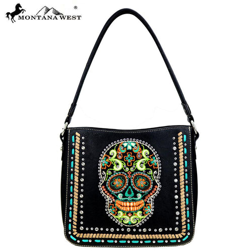 MW459-8391  Montana West Sugar Skull Collection Handbag