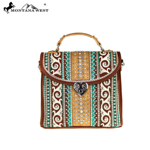 MW462-8102 Montana West Bling Bling Collection Tote/Crossbody