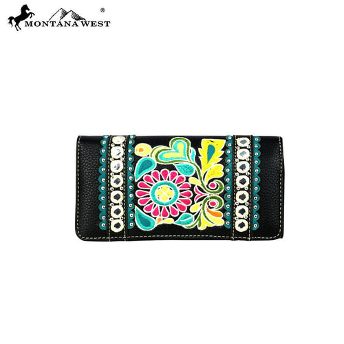MW474-W002 Montana West Floral Collection Wallet