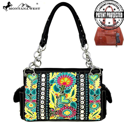 MW474G-8085 Montana West Floral Collection Concealed Handgun Satchel