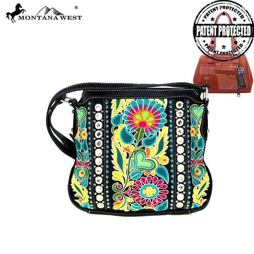 MW474G-8395 Montana West Floral Collection Concealed Handgun Crossbody