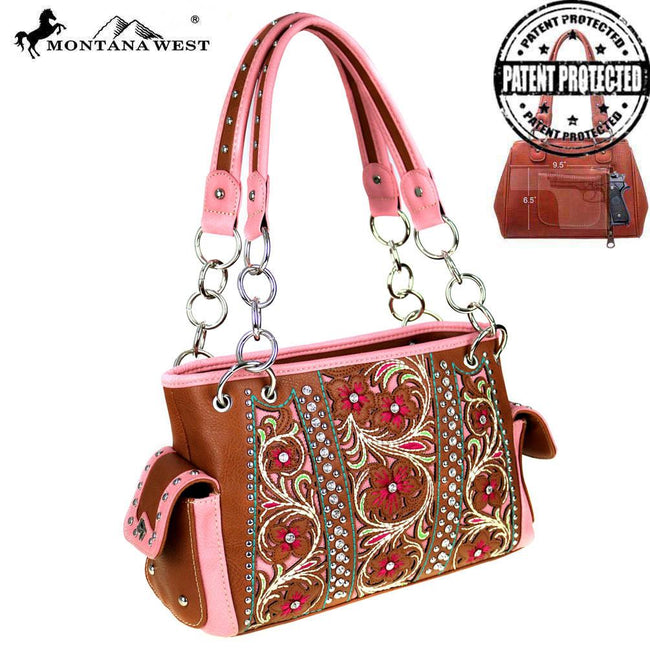 MW486G-8085 Montana West Floral Collection Concealed Handgun Satchel