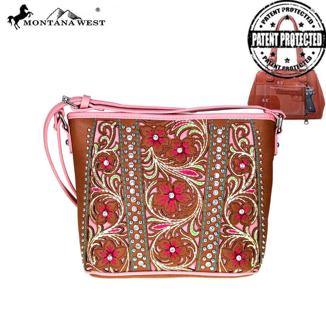 MW486G-8287 Montana West Floral Collection Concealed Handgun Crossbody Bag
