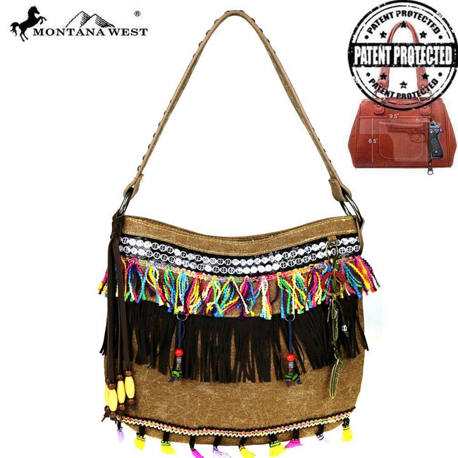 MW489G-8273 Montana West Fringe Collection Concealed Handgun Hobo