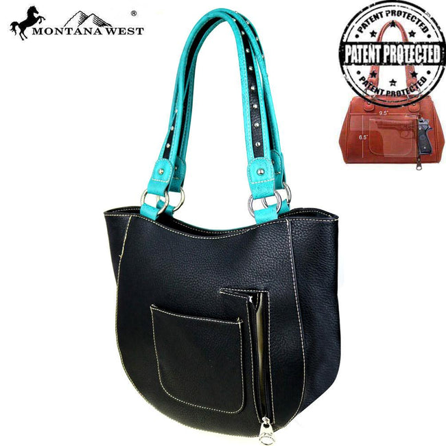 MW492G-8573  Montana West Concho Collection Concealed Handgun Tote Bag