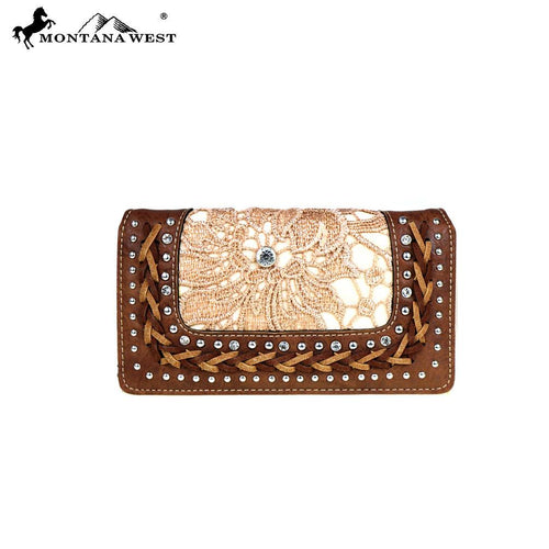 MW498-W010 Montana West Lace Collection Secretary Style Wallet