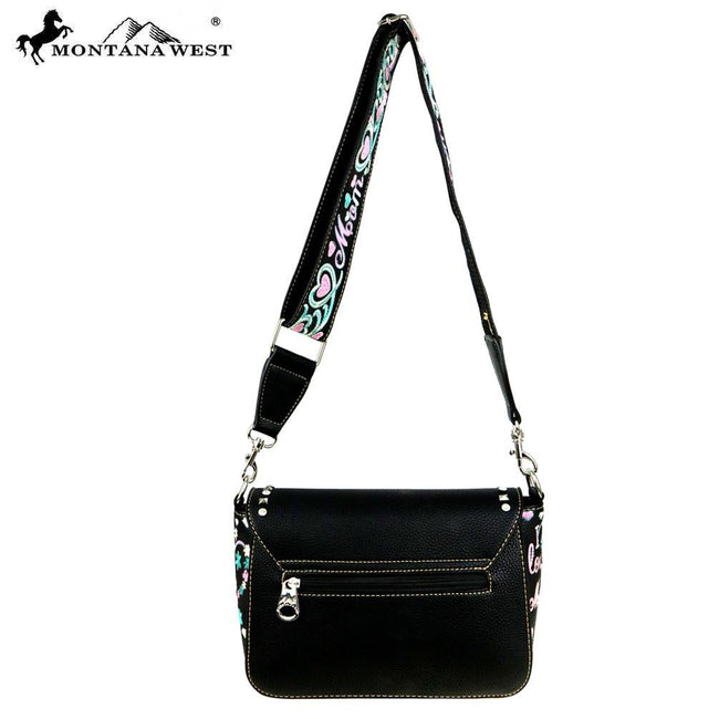 "MW506-8360 Montana West Heart Collection""I Love Daughter"" Crossbody Bag"
