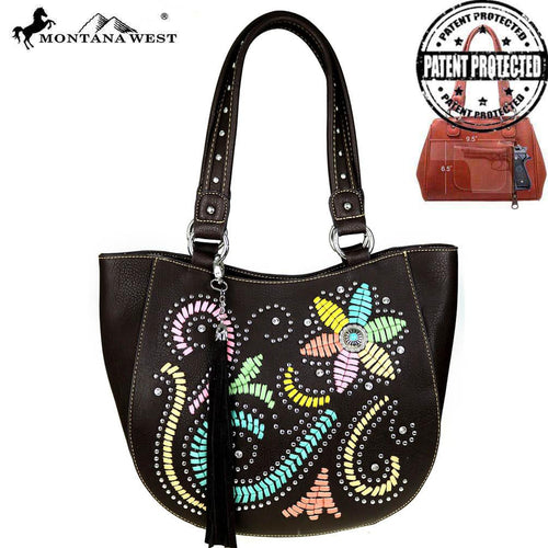 MW513G-8491 Montana West Concho Collection Concealed Handgun Collection Tote