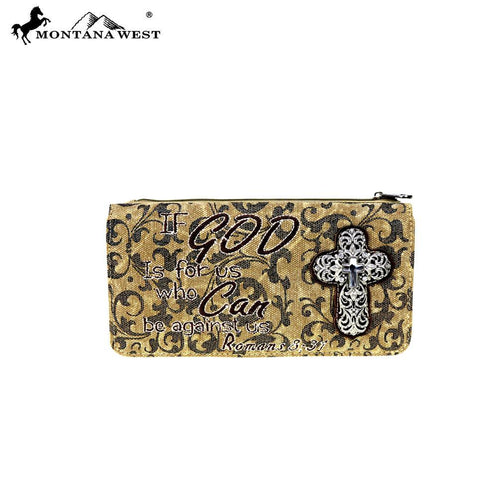 MW515-W021 Montana West Scripture Bible Verse Collection Wallet