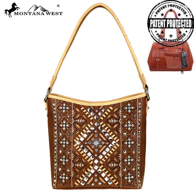MW520G-916  Montana West  Aztec Collection Concealed Handgun Hobo