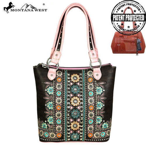 MW528G-8304 Montana West Concho Collection Concealed Handgun Tote
