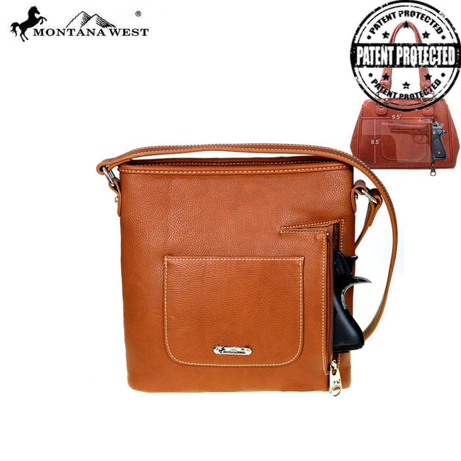 MW536G-8287 Montana West Buckle Collection Concealed Handgun Crossbody Bag