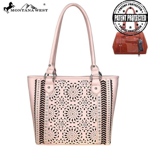 MW537G-8317  Montana West Laser-Cut Collection Concealed Handgun Tote