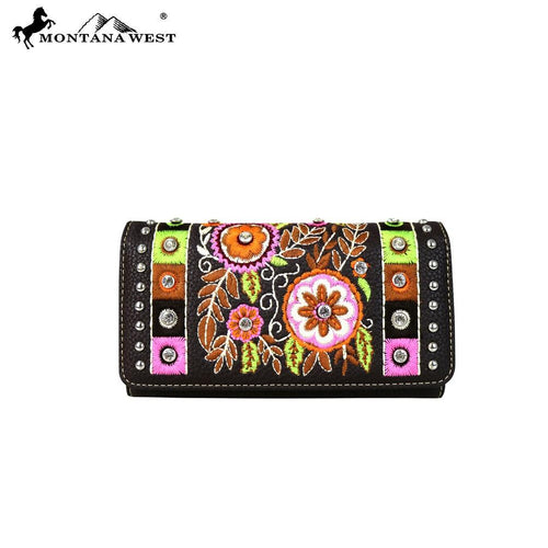 MW552-W018 Montana West Embroidered Collection Wallet/Wristlet
