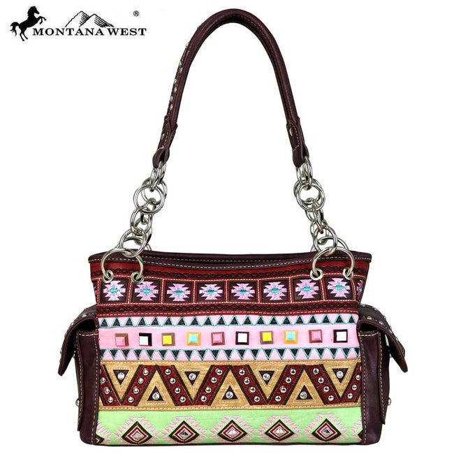 MW553-8085 Montana West Embroidered Collection Satchel