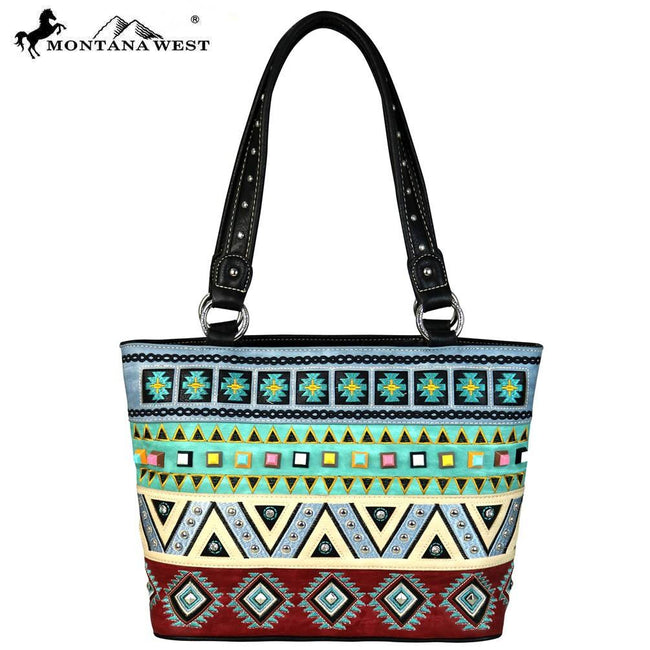 MW553-8317 Montana West Embroidered Collection Tote