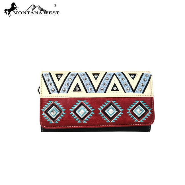 MW553-W018 Montana West Embroidered Collection Wallet/Wristlet