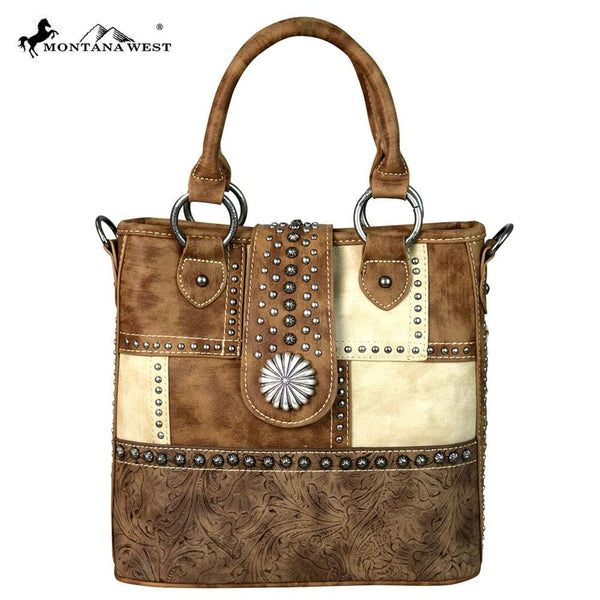 MW555-8461 Montana West Concho Collection Tote/Crossbody