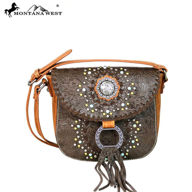 MW561-8360 Montana West Concho Collection Crossbody