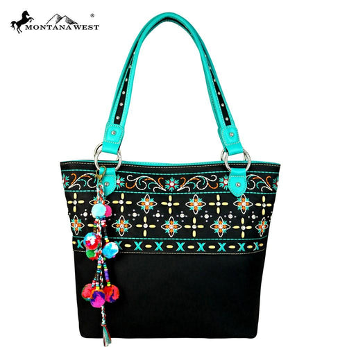 MW577-8317 Montana West Embroidered Collection Tote