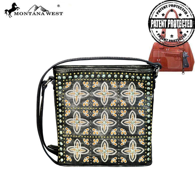 MW579G-8300 Montana West Embroidered Collection Concealed Handgun Crossbody