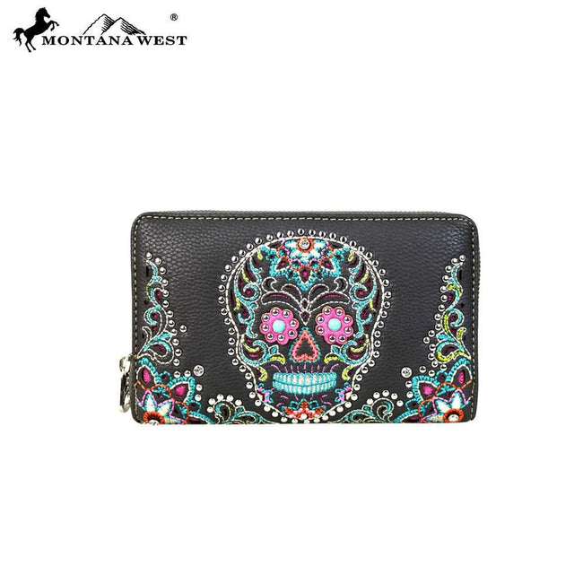 MW585-W003 Montana West Sugar Skull Collection Wallet