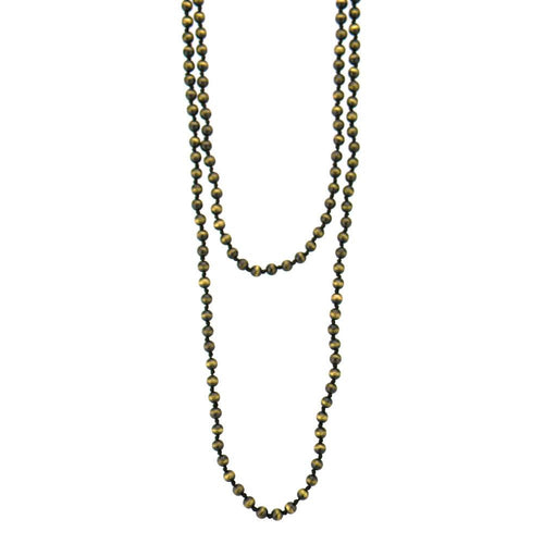 "NKY161216-08 SLV  8MM CCP BEADS HAND KNOTTED, 60"" LONG NECKLACE"