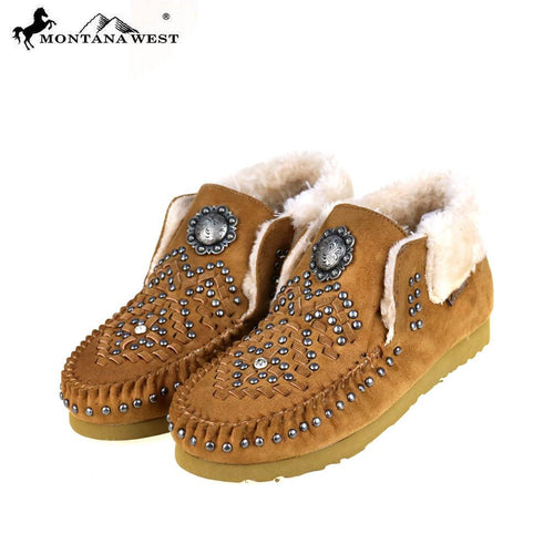 SBT-018  Montana West Moccasins Concho Collection By Case