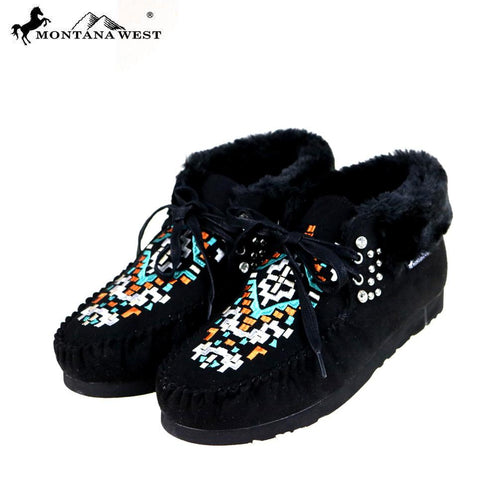 SBT-019  Montana West Moccasins Aztec Collection