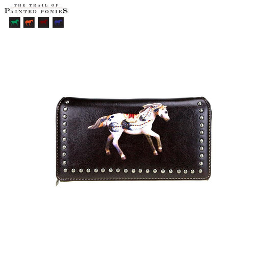 TPP02-W010 The Trail Of Painted Ponies Collection Secretary Style Wallet