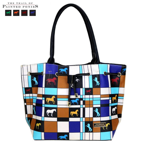 TPP03-9320 The Trail Of Painted Ponies Collection Drawstring Tote