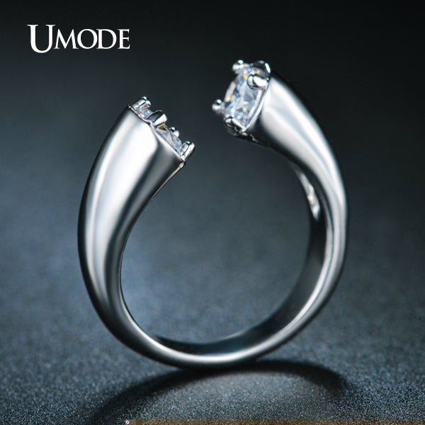 Gold Plated / White Gold Plated Top Grade Cubic Zirconia Open Ring