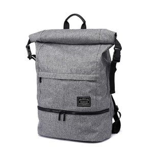 Solid Preppy Style Soft Backpack