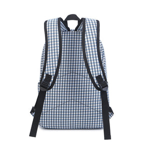 Casual Plaid Backpack